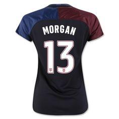 b4fe9e58f 2016 3 Star USA Alex Morgan 13 Black Away Soccer Jersey Football Shirt  Trikot Maglia Camiseta De Fútbol