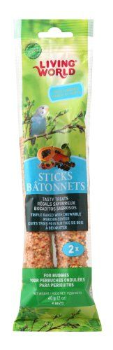 Living World Budgies Fruit Treat Sticks 2Ounce *** Click on the image for additional details.Note:It is affiliate link to Amazon.