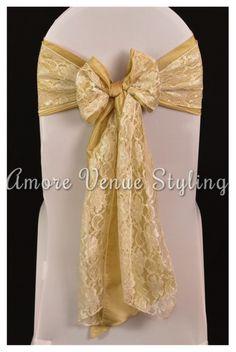 #wedding #sash #taffeta #antique #gold #lace