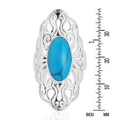 Handmade Vintage Filigree Swirl Beauty Oval Sterling Silver Ring (Thailand) | Overstock.com Shopping - The Best Deals on Gemstone Rings Gemstone Colors, Gemstone Rings, Bali Jewelry, Green Gemstones, Beautiful Rings, Fashion Rings, Filigree, Sterling Silver Rings, Turquoise Necklace