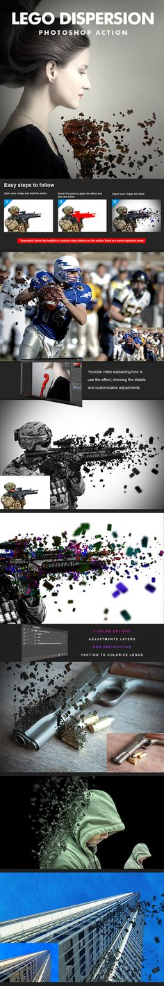 Lego Dispersion Action by haikhow Lego Dispersion Action for photoshop. Includes: 1 Action file(.atn), 1 Gradient set(.grd), 1 Brush set(.abr), 1 Pattern set(.pat)