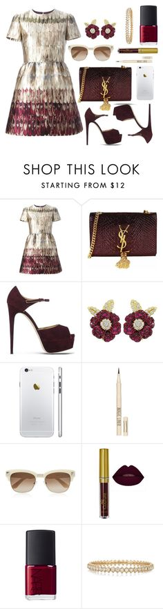 """Untitled #74"" by yaya-enjoy ❤ liked on Polyvore featuring Valentino, Yves Saint Laurent, Brian Atwood, Topshop and NARS Cosmetics"