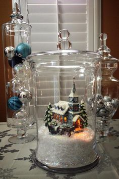 Decorating with Apothecary Jars Unique 40 Beautiful Christmas Spirit Jars Ideas. Easy Christmas Decorations, Christmas Lanterns, Christmas Jars, Christmas Centerpieces, Simple Christmas, Beautiful Christmas, Winter Christmas, Christmas Home, Christmas Island