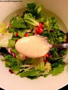 Sos jogurtowo-musztardowy idealny do sałatek Polish Recipes, Yummy Eats, Salad Dressing, Salad Recipes, Appetizers, Food And Drink, Healthy Eating, Tasty, Pizza