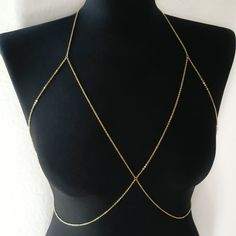 Single Layer Chain Bralette Gold Body Chain Chain Bra Body