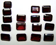 Calibrated 8x10 MM Natural Orange-Red Garnet Emerald Cut Octagon Loose Gem AAA
