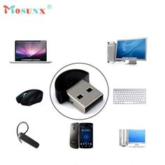 Factory Price Mini USB Bluetooth V2.0 Dongle Adapter for Laptop PC Win Xp Win7 8 iPhone 4GS 5GS Headset networking LAN access