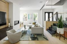 OverUnder demolished the interior of the home and redesigned it from scratch