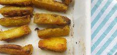 Batata-doce crocante com curry