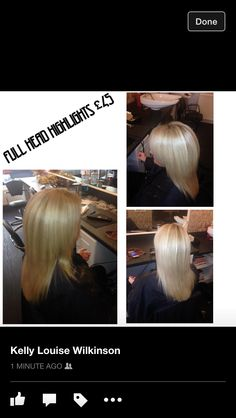 Full head foils £45 including Cut & Blowdry +44 7787 048578