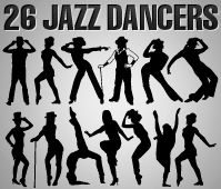 Dancers | All Silhouettes .... LOTS !!!!  Tango, Turkey Danceres, hip hop, dubsteppers, rock n' roll, ballet, latin, indian, jazz,