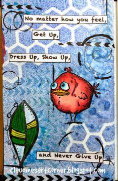 Claudine's Art Corner: Tim Holtz Bird Crazy Journal Page
