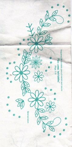 embroidery - posy flowers and leaves - box label Mexican Embroidery, Crewel Embroidery, Vintage Embroidery, Ribbon Embroidery, Floral Embroidery, Cross Stitch Embroidery, Flower Embroidery Designs, Hand Embroidery Patterns, Machine Embroidery