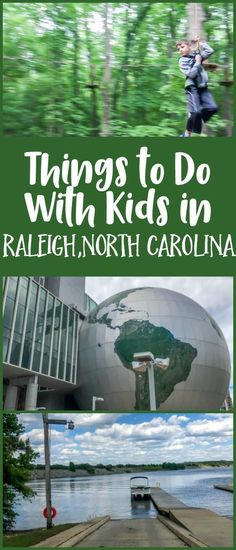 Things to Do With Kids in Raleigh, North Carolina, including zip lining, the NC Museum of Natural Sciences, and a boat ride on Jordan Lake.