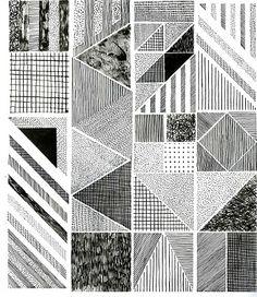 Hannah Waldron monochrome print. #monochrome #geometric