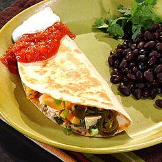 Spicy Chicken Quesadillas   MyRecipes.com