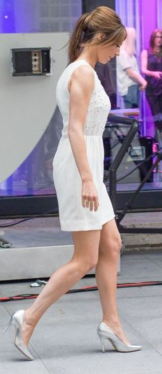 Alex The One Show, Bbc One, Alex Jones, Celebs, Celebrities, Sexy Legs, Bangs, White Dress, London
