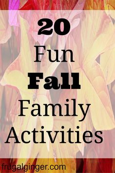 20 fun Fall family activities to get you out and enjoying the season!