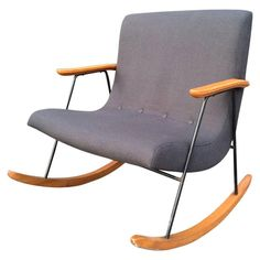 """Milo Baughman """"Ozzy"""" Rocking Chair 