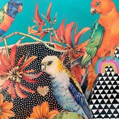 Surfaces Patterns (@surfacespatterns) posted on Instagram • Dec 18, 2020 at 2:30pm UTC Textile Prints, Textile Design, Surface Pattern Design, Watercolour, Illustration Art, Minimalist, Birds, Mood, Embroidery