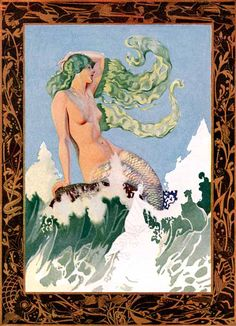 "New Rochelle: The City Of The Huguenots, ""The Siren Call"" (1926) Phillips,C - 079  NOTE: Phillips died before he could complete this piece, also shown in the Atwater Kent ad above."