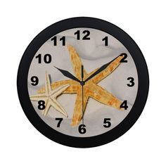 Starfish Pair Circular Plastic Wall clock