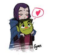 DC Comics: Teen Titans - Raven x Beast Boy - BBRae