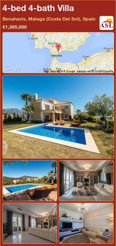 4-bed 4-bath Villa in Benahavis, Malaga (Costa Del Sol), Spain ►€1,395,000 #PropertyForSaleInSpain