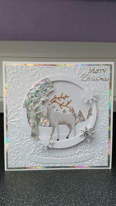 Tattered Lace Snowglobe 2016 Dies. Handmade Card Making, Handmade Cards, Snowglobe 2016, 3d Cards, Christmas Cards, Tattered Lace Cards, Exploding Boxes, Shaker Cards, Punch Art