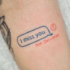 I miss you tattoo #ink #tatuajeamor #ink Tattoo Designs For Women, Tattoos For Women Small, Small Tattoos, Red Tattoos, Mini Tattoos, Tatoos, Funny Tattoos, Cute Tattoos, Beautiful Tattoos
