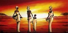 Resultado de imagen para cuadros para sala African Art Paintings, African Artwork, Woman Painting, Figure Painting, Black Art, South Afrika, Afrique Art, Japanese Artwork, Painted Ladies