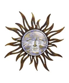 Look at this Purple Face Sun Wall Art on #zulily today!