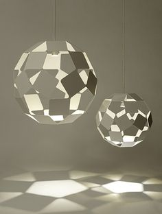 Cool lamps from the new Dancing Squares collection by Japanese designers, Nendo.