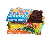 Tony's Chocolonely, lekkere en fairtrade chocolade moet ik nu echt een keer proeven... alle smaken ;)