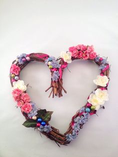 Items similar to Shabby Chic Custom Floral Wreath on Etsy And July, Home Accents, Beautiful Things, Floral Wreath, Shabby Chic, October, Wreaths, Homemade, Unique Jewelry