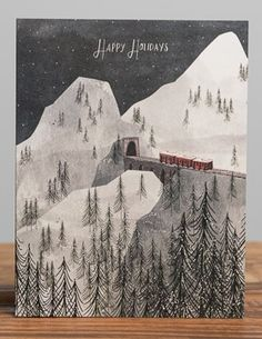 Holiday Train | Red Cap Cards illustrated by Josie Portillo