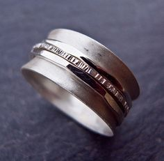 Spinner ring in Sterling Silver by Scape on Etsy, $65.00