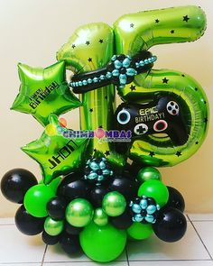 Balloon Design For Birthday, Birthday Balloon Decorations, Birthday Balloons, Balloon Display, Balloon Gift, Balloon Table Centerpieces, Paintball Birthday, Balloon Bouquet Delivery, Personalized Balloons