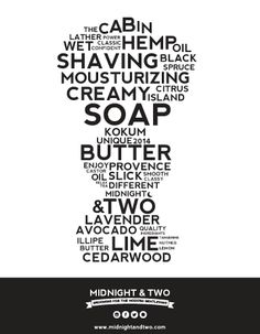 Midnight & Two Male Grooming #branding #wetshaving #design - Introduces three of it's shaving soaps: The Cabin, Provence and Citrus island. www.midnightandtwo.com