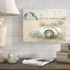 Gracie Oaks Fresh Flowers For Sale - Graphic Art Print on Canvas Metal in Brown, Size 24.0 H x 32.0 W x 2.0 D in | Wayfair | Home Decor