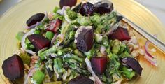 Roasted Beets and Asparagus with Farro