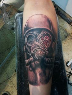 Tattoo mask soldier
