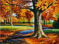 Leonid Afremov print The Lonliness of Autumn