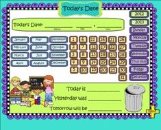 Grades 1-3 Common Core-Aligned SMARTBoard Math Calendar: Looking for a fresh start in your daily calendar routine? This file is all you need for the whole year and it reinforces many Common Core Skills. On sale today with code SUPER!