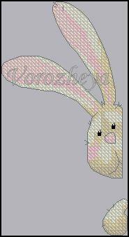 Как вышить крестиком зайца,кролика? Где найти схему вышивки кролика,зайца?