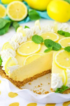 This Lemon Mascarpone Cream Pie is full of lovely lemon flavor! It's light and perfect for summer! Plus, I love the addition of the smooth and creamy mascarpone cheese! I hope everyone enjoy the Independence Day holiday yesterday. The hubs was off work bo Easy Pie Recipes, Cream Pie Recipes, Lemon Recipes, Cake Recipes, Dessert Recipes, Cooking Recipes, Dinner Recipes, Delicious Recipes, Lemon Desserts