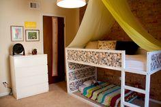 Toddler boy's room, Kura bed, ikea hack