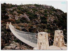 """Puente colgante en Peñón del Aguila""  Córdoba - Argentina Tower Bridge, South America, Places To See, Country, Road Trip, To Go, Around The Worlds, Explore, Adventure"