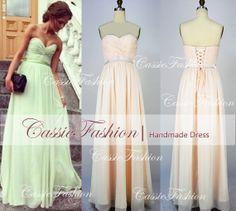 Strapless Sweetheart Floor Length Draped Chiffon Prom Gowm Dresses,Bridesmaid Dresses,Wedding Dress,Cocktail Dress