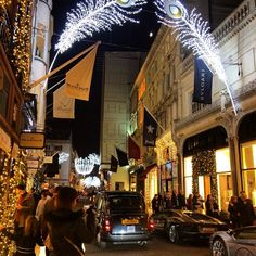 The London Christmas Lights Bucket List for 2014 :: New Bond Street's peacock theme, via WeeBirdy.com.